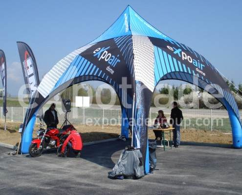 Expoair airdome gonflable 6x6m