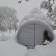Expodome 3 x3m im Wintereinsatz