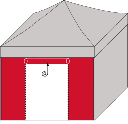 Seitenwand Rolltüre