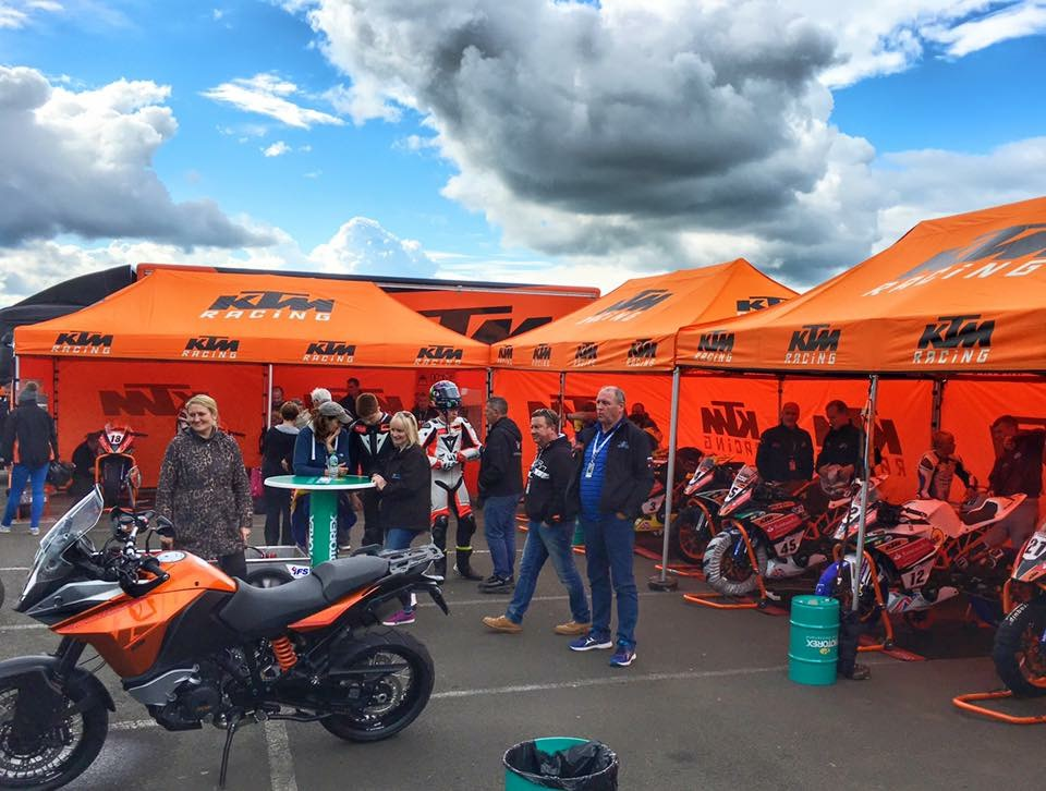 EXPOTENT foldable tents at KTM UK & EXPOTENT instant shelters from Expotrade at KTM UK