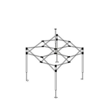 expotent premium 2,50 x 2,50 m Gestell