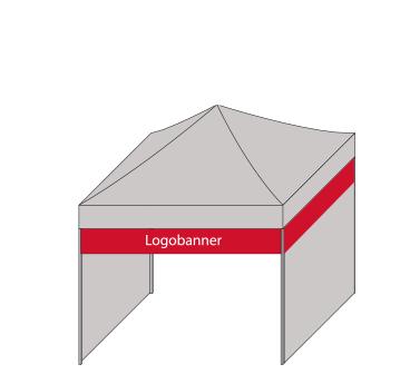 expotent Faltzelt Logobanner