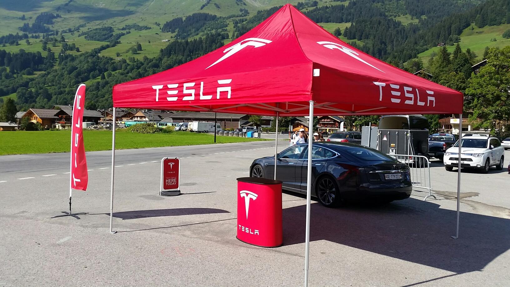 Faltzelt expotent Tesla 4x4m