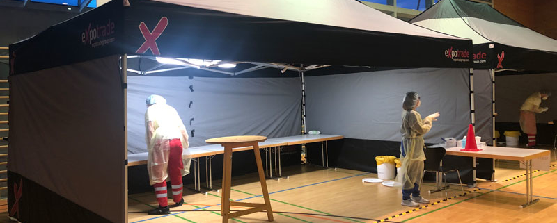 Covid-Test 6x4m expotent